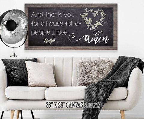 Image of And Thank You For - Canvas