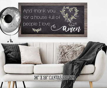 And Thank You For - Canvas Lone Star Art