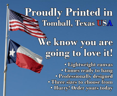 Image of And Thank You For - Canvas Lone Star Art