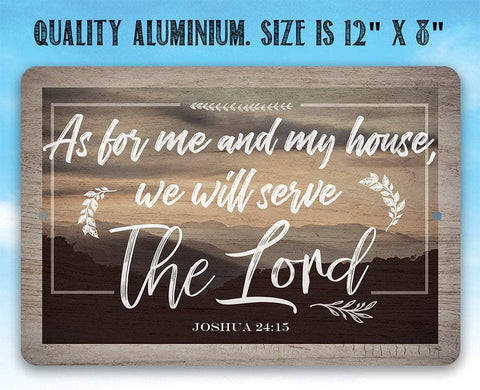 Image of As For Me And My House - Metal Sign.