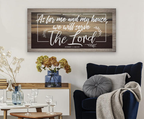 Image of As For Me And My House - Canvas.