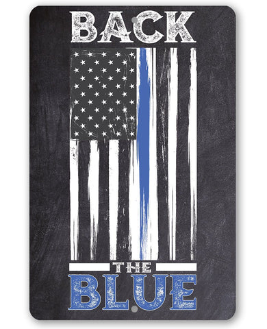 Back The Blue - Metal Sign Metal Sign Lone Star Art
