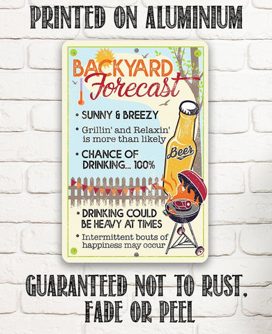 Backyard Forecast - Metal Sign.