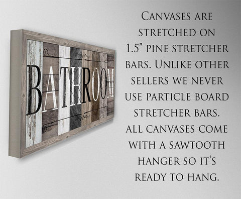 Bathroom in Multi Pattern - Canvas.