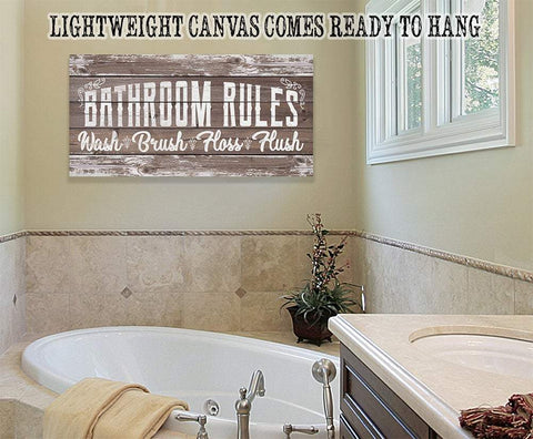 Bathroom Rules - Canvas.
