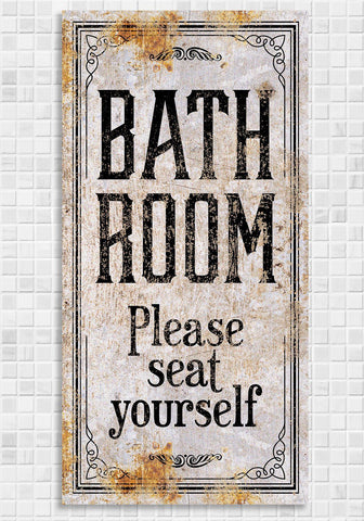 Bathroom Seat Yourself - Canvas.