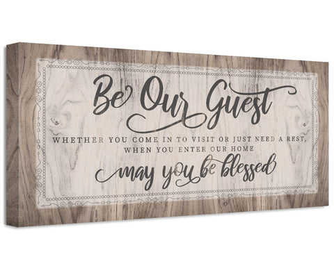 Image of Be Our Guest May You Be Blessed - Canvas
