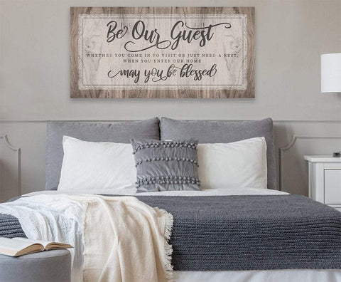Image of Be Our Guest May You Be Blessed - Canvas.