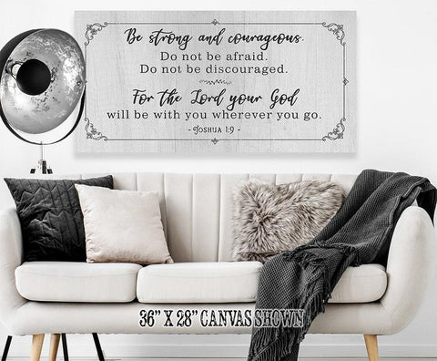 Image of Be Strong And Courageous - Canvas.