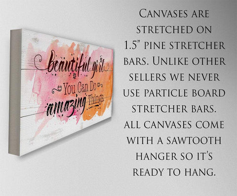 Image of Beautiful Girl - Canvas Lone Star Art