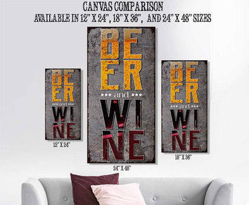 Beer & Wine - Canvas Lone Star Art