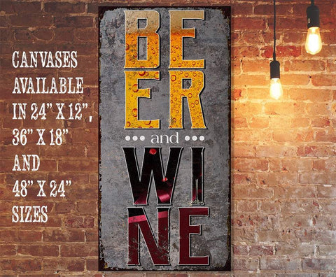 Image of Beer & Wine - Canvas Lone Star Art