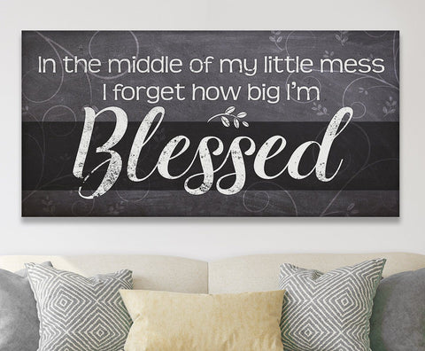 Image of Blessed - Canvas