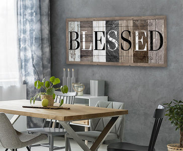 Blessed in Multi Pattern - Canvas.