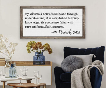 By Wisdom Proverbs 24 - Canvas