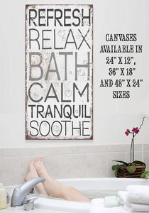 Calm Bath - Canvas.
