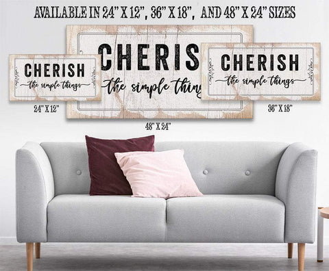 Image of Cherish The Simple Things - Canvas.