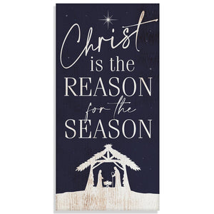 "Christ Is The Reason - Canvas Lone Star Art 12"" x 24"""