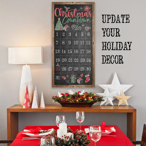 Image of Christmas Countdown - Canvas Lone Star Art