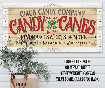 Claus Candy Cane Co - Canvas Lone Star Art