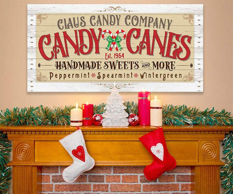 Image of Claus Candy Cane Co - Canvas Lone Star Art
