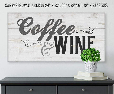 Image of Coffee & Wine - Canvas.