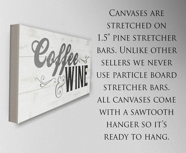 Coffee & Wine - Canvas.