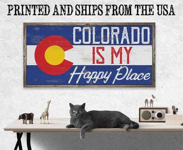 Colorado My Happy Place - Canvas