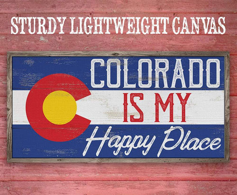 Image of Colorado My Happy Place - Canvas Lone Star Art
