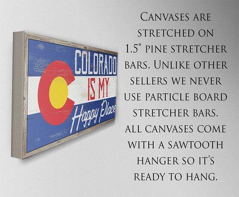 Image of Colorado My Happy Place - Canvas