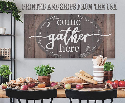 Image of Come Gather Here - Canvas.