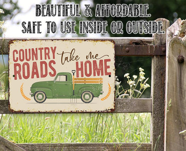 Country Roads - Metal Sign.