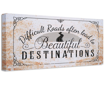 Difficult Roads - Canvas Wall Hangings Lone Star Art