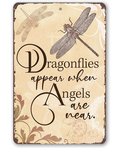 Image of Dragonflies Appear - Metal Sign.