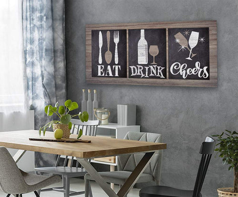 Image of Eat Drink Cheers - Canvas