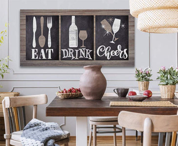 Eat Drink Cheers - Canvas
