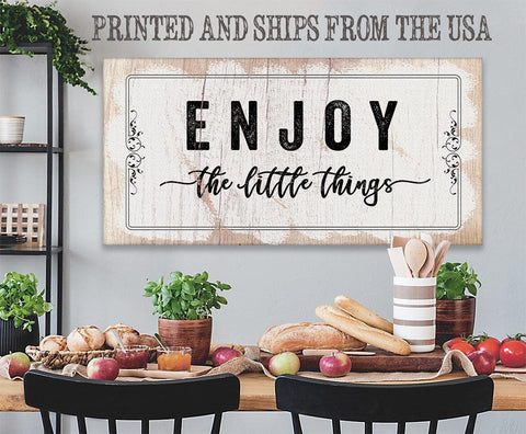 Image of Enjoy The Little Things - Canvas