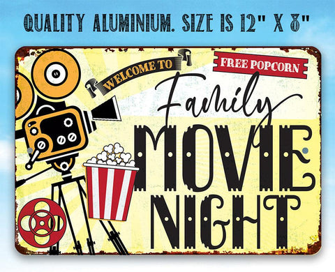 Image of Family Movie Night - Metal Sign Metal Sign Lone Star Art