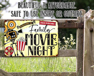 Family Movie Night - Metal Sign Metal Sign Lone Star Art