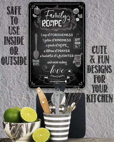 Family Recipe - Metal Sign.