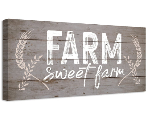 Image of Farm Sweet Farm - Canvas Wall Hangings Lone Star Art