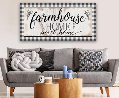 Image of Farmhouse Home Sweet Home - Canvas.
