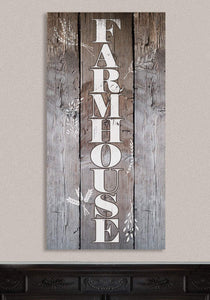 "Farmhouse-Large Canvas (Not Printed on Wood) Stretched on Wood-Dining Living Room Decor- Wedding and Housewarming Gift Wall Hangings Lone Star Art 12""x24"" Stretched"