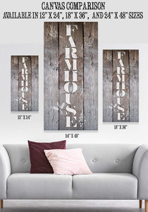 Farmhouse-Large Canvas (Not Printed on Wood) Stretched on Wood-Dining Living Room Decor- Wedding and Housewarming Gift Wall Hangings Lone Star Art