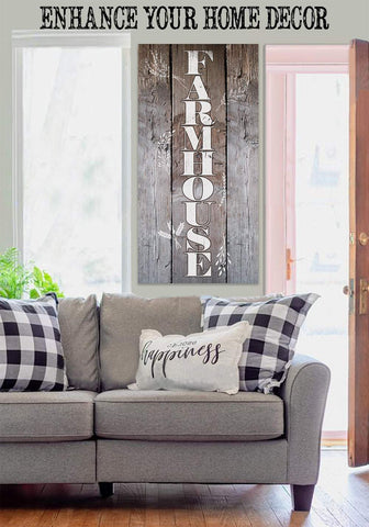Image of Farmhouse-Large Canvas (Not Printed on Wood) Stretched on Wood-Dining Living Room Decor- Wedding and Housewarming Gift Wall Hangings Lone Star Art