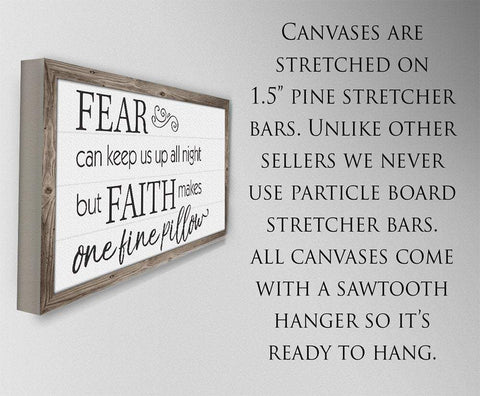 Image of Fear Can Keep Us Up - Canvas