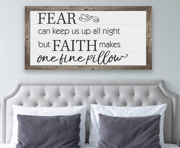 Fear Can Keep Us Up - Canvas