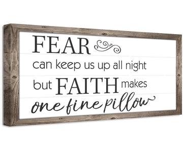 Fear Can Keep Us Up - Canvas Wall Hangings Lone Star Art