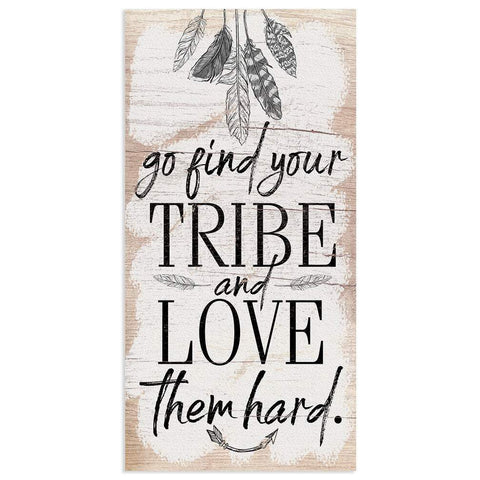 "Image of Find Your Tribe - Canvas Lone Star Art 12"" x 24"""
