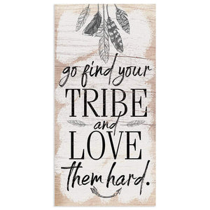 "Find Your Tribe - Canvas Lone Star Art 12"" x 24"""